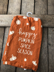 Happy Pumpkin Spice tea towel