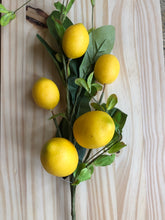 Load image into Gallery viewer, 28 In Lemon and Foliage Stem