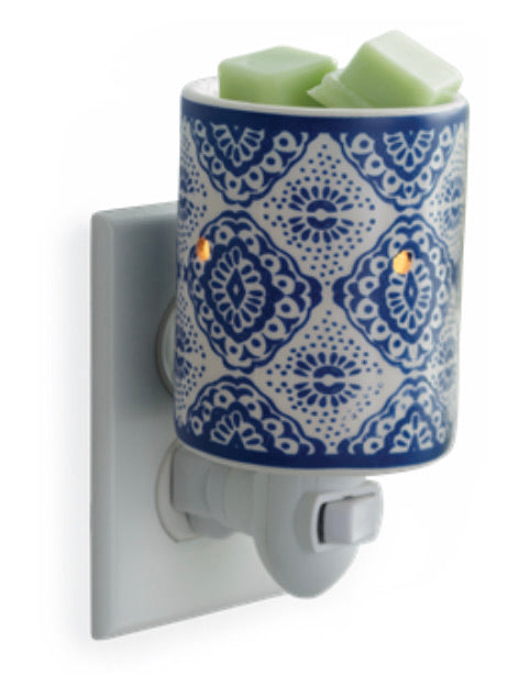 Indigo Porcelain plug in warmer