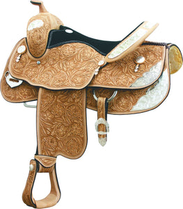 new leather saddle