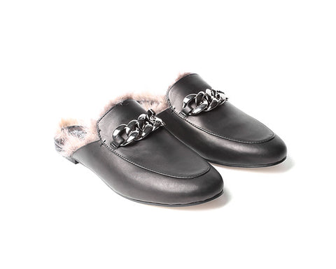 jeffrey campbell apfel fur lined loafer slide
