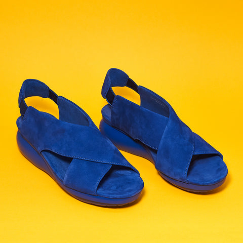 Camper Lara balloon Sandal in Madness blue - Shoe Market NYC