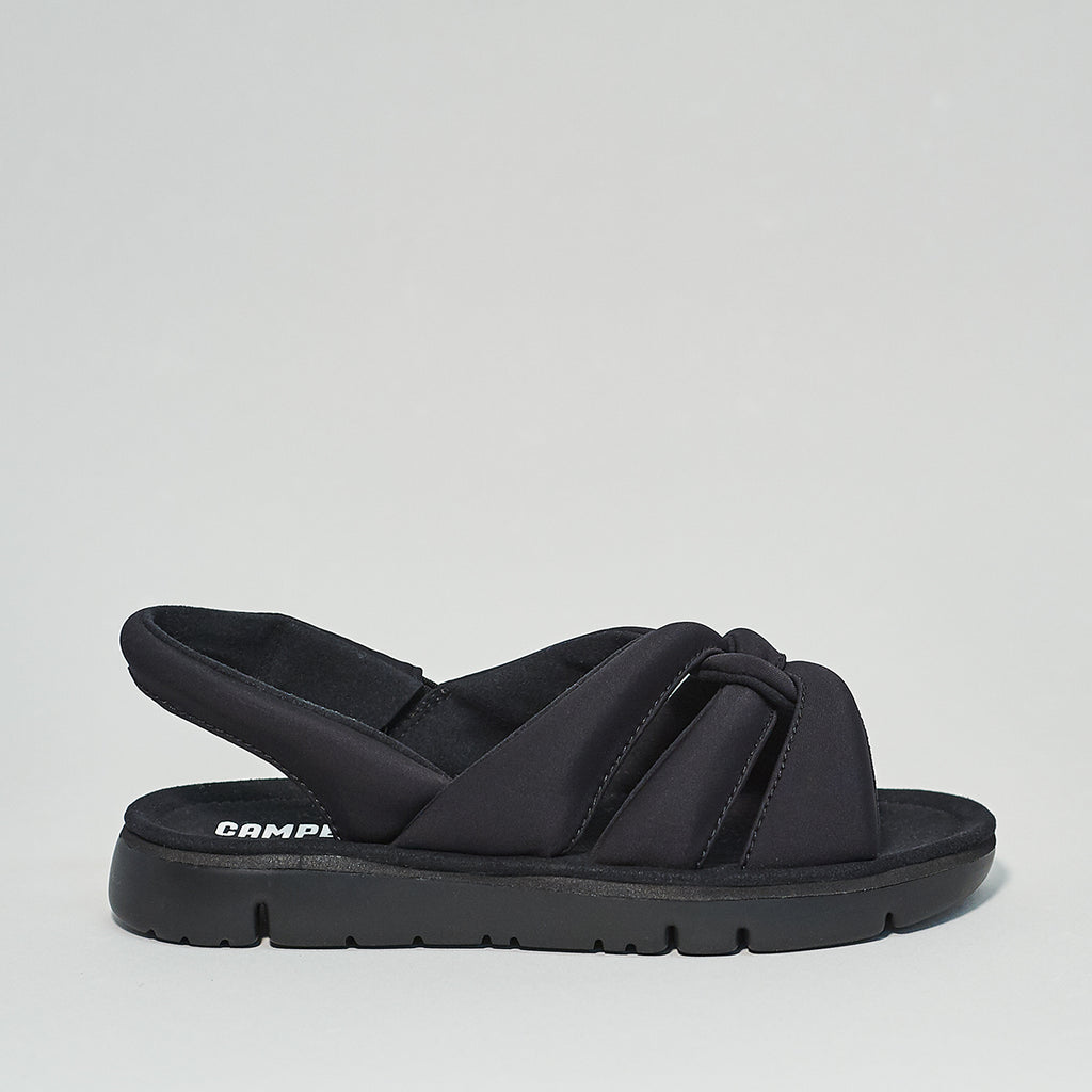 Oruga Sand Sandal by Camper in black
