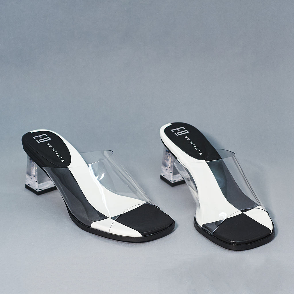 Rita clear Vinyl Heel by E8 - Shoe Market NYC