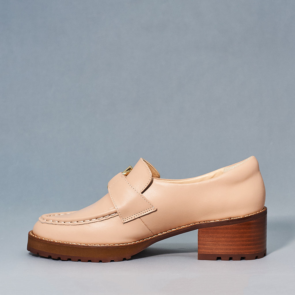 Reyna loafer by E8 in blush - Shoe Market NYC