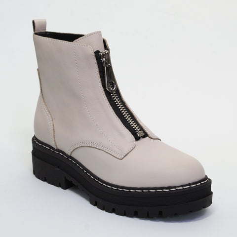 PARALEE ZIP BOOT - WHITE
