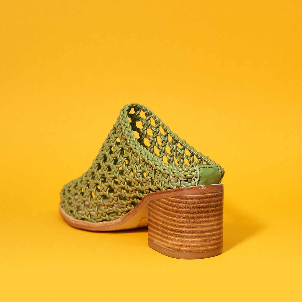 Caps basket by Intentionally Blank in Olive - Shoe Market NYC