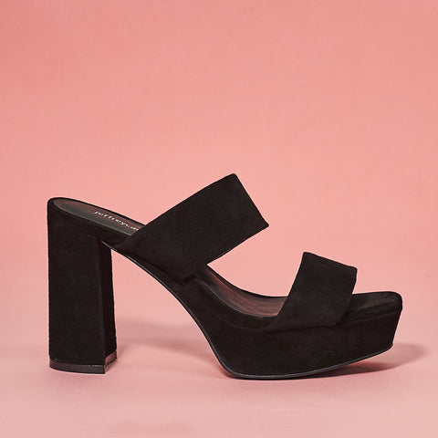 Adrianna 2 in black suede by Jeffrey Campbell
