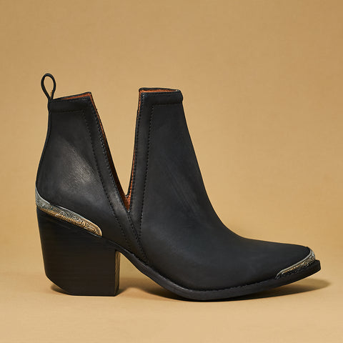 Jeffrey Campbell Cromwell Black Distressed