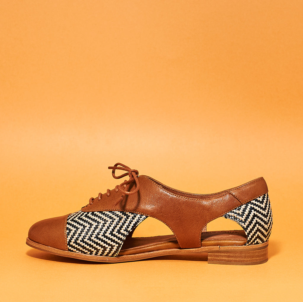 Jeffrey Campbell Prospector - Tan/Black - Shoe Market NYC
