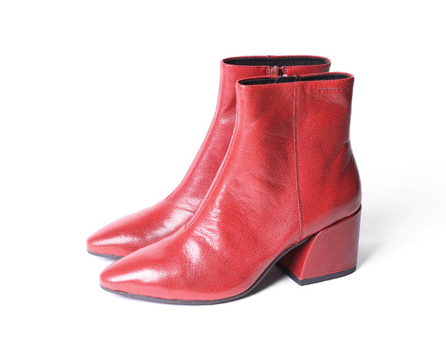 Vagabond Olivia Bootie  Red leather - Shoe Market NYC