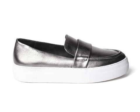 J/Slides Page - Pewter - Shoe Market NYC