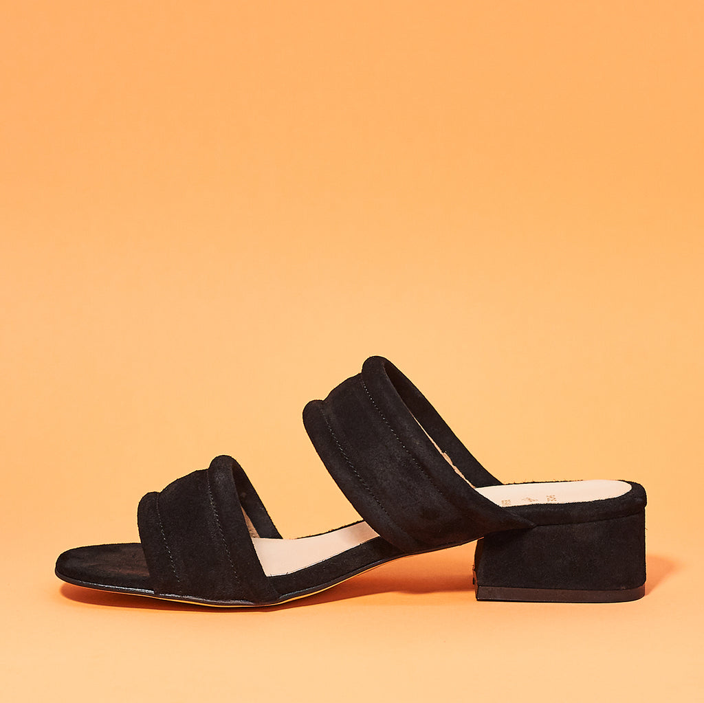 Yasmin slide by Shoe the Bear in Black