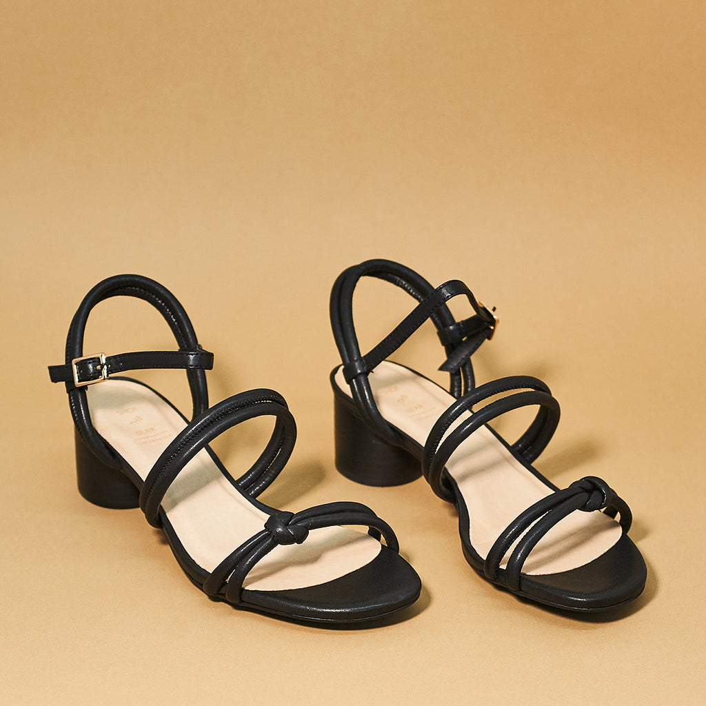 Aya Knot Sandal by Shoe the Bear in Black - Shoe Market NYC