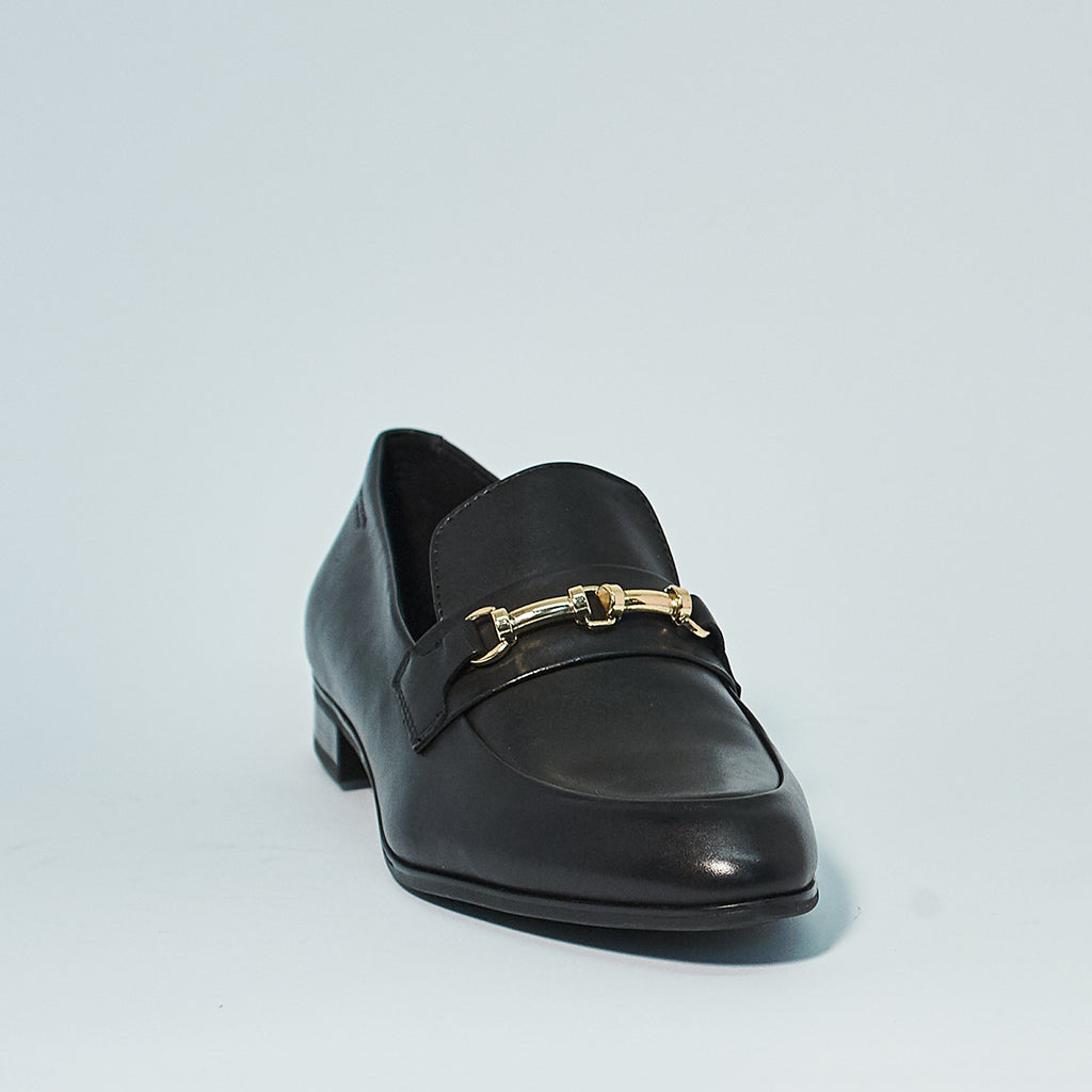 FRANCES LEATHER CHAIN LOAFER