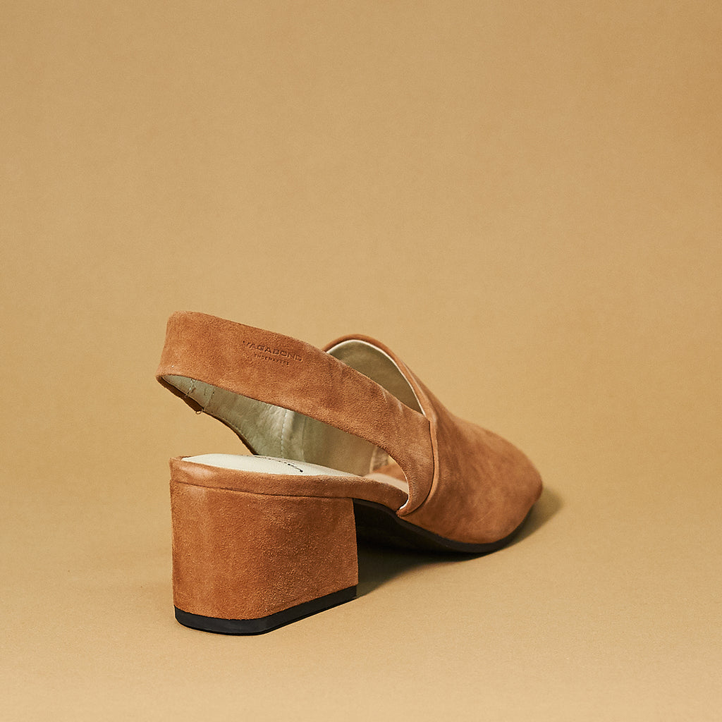 Elena slingback by Vagabond Shoe Makers in Nougat - Shoe Market NYC