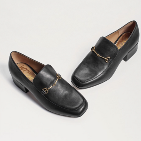 JAMILLE HEELED LOAFER - BLACK