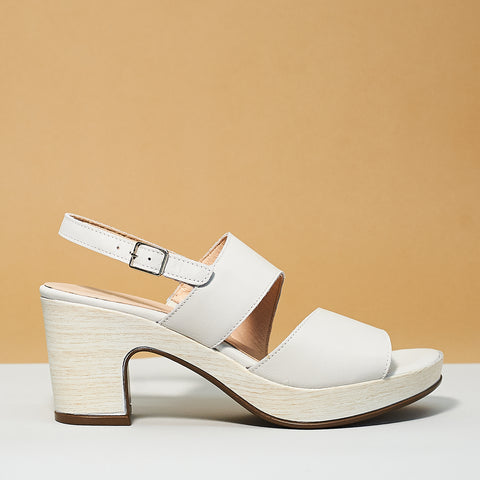 Double strap sandal by Wonders off white - Shoe Market NYC