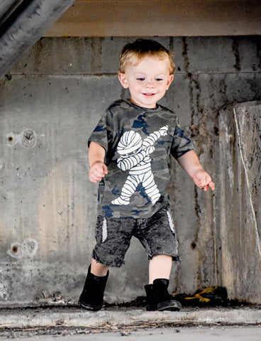 Day 18-Mummy Dab Tee,  Smoke Camo-( Infant, Toddler, Youth)