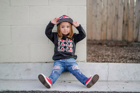 Day 8-GRG-Fa La La Fleece Sweater, Black (Toddler, Youth)