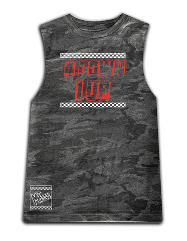 4 Down 1 Up Tee OR Muscle Tank, Smoke Camo- (6M-Adult)