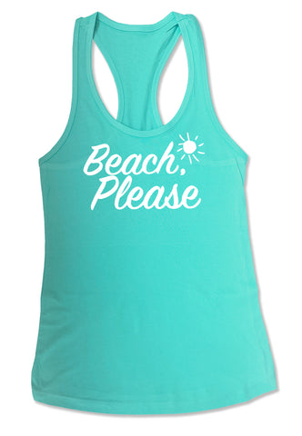 Adult Beach Please Tank