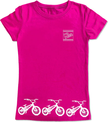 BMX Track Fitted Tee,Hot Pink- (6M-Youth XL)