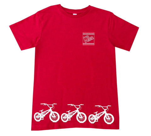 BMX Track Tee OR Muscle Tank, Red- (6M-Youth XL)