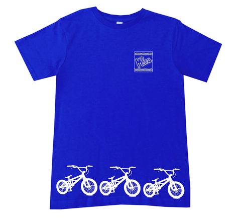 BMX Track Tee OR Muscle Tank, Royal- (6M-Youth XL)