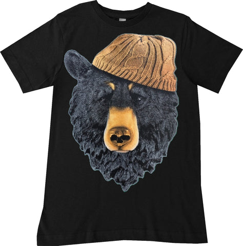 Bear IN Beanie Tee, Black- ( Infant, Toddler, Youth, Adult)