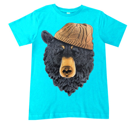 Bear IN Beanie Tee, Tahiti Blue (Toddler, Youth)