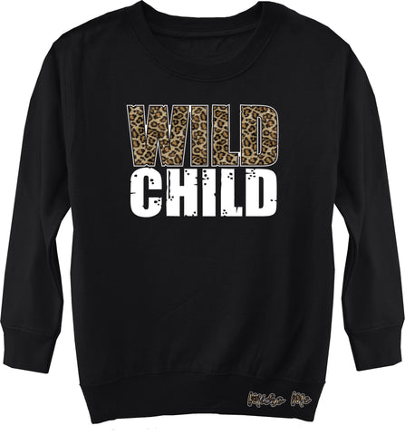 Wild Child Sweater, Black (Toddler, Youth)