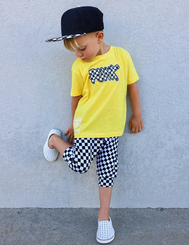 '''Yellow Unisex PUNK Tee- Toddler