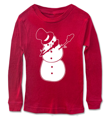 Snowman Dab Long Sleeve