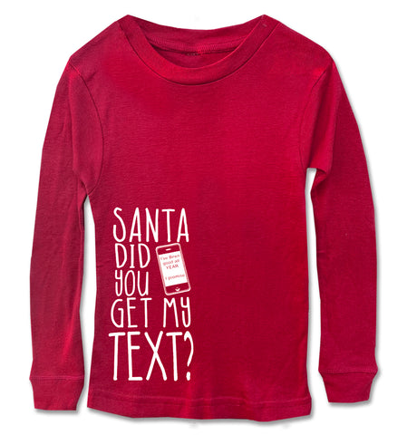Santa Get my text Long Sleeve