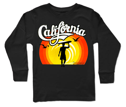 California Dreamin LS Shirt, Black (Infant, Toddler, Youth)