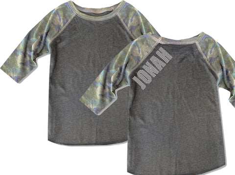 Camo Check Raglan **CUSTOM NAME***