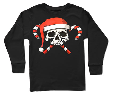 GRG-Candy Cane Skull Long Sleeve Shirt (Infant, Toddler, Youth)