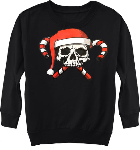 GRG-Candy Cane Fleece Sweater, Black- (Toddler, Youth,Adult)