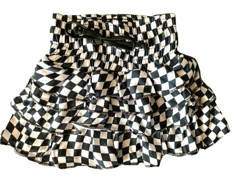 A/Checkerboard Ruffle Skirt