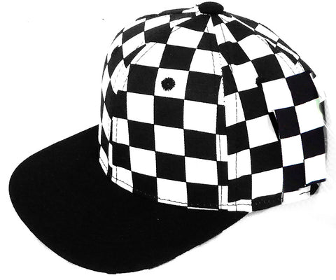 ****PRE-ORDER- Snapback Hat-Checkerboard w/Black Brim-INFANT