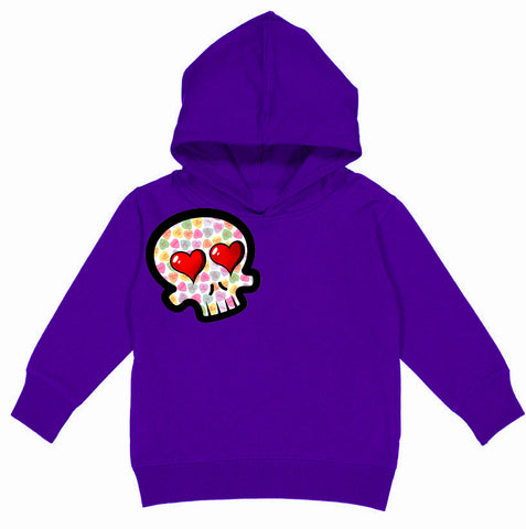 Convo Hearts COLLAB- Skull Hoodie, Purple(Toddler, Youth)