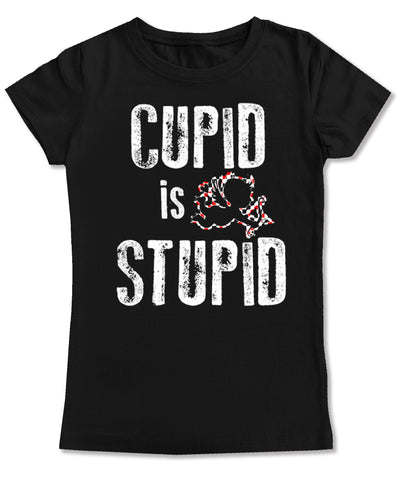 Cupid Is Stupid Fitted Tee, Black (Infant, Toddler, Youth)