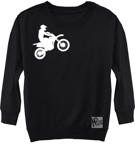 RC-Dirtbiker Fleece Sweater, Black (Toddler, Youth)
