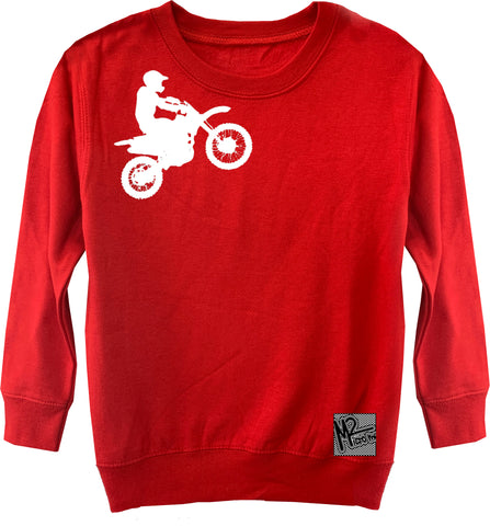 RC-Dirtbiker Fleece Sweater, Red (Toddler, Youth)