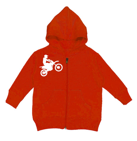 RC-Dirtbiker Zip Hoodie,Red (Infant, Toddler,Youth)