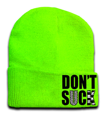 Don't Suck Beanie, Neon Green (Medium)