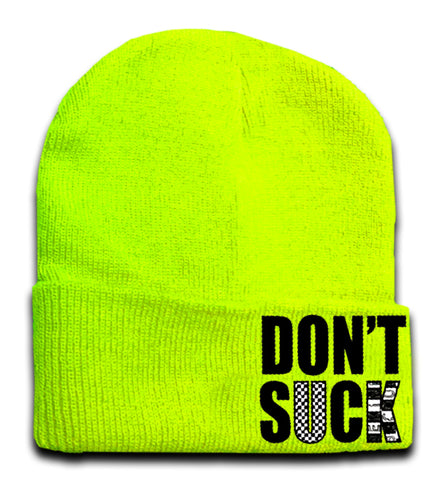 Don't Suck Beanie, Neon Yellow (Medium)