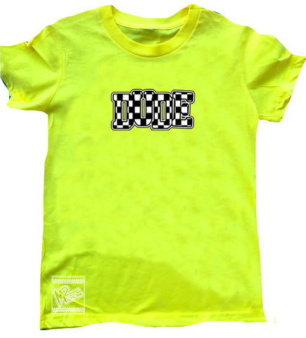 Neon Yellow DUDE Tee
