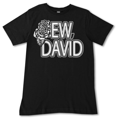 ED-Ew David Tee, Black (Infant, Toddler, Youth, Adult)